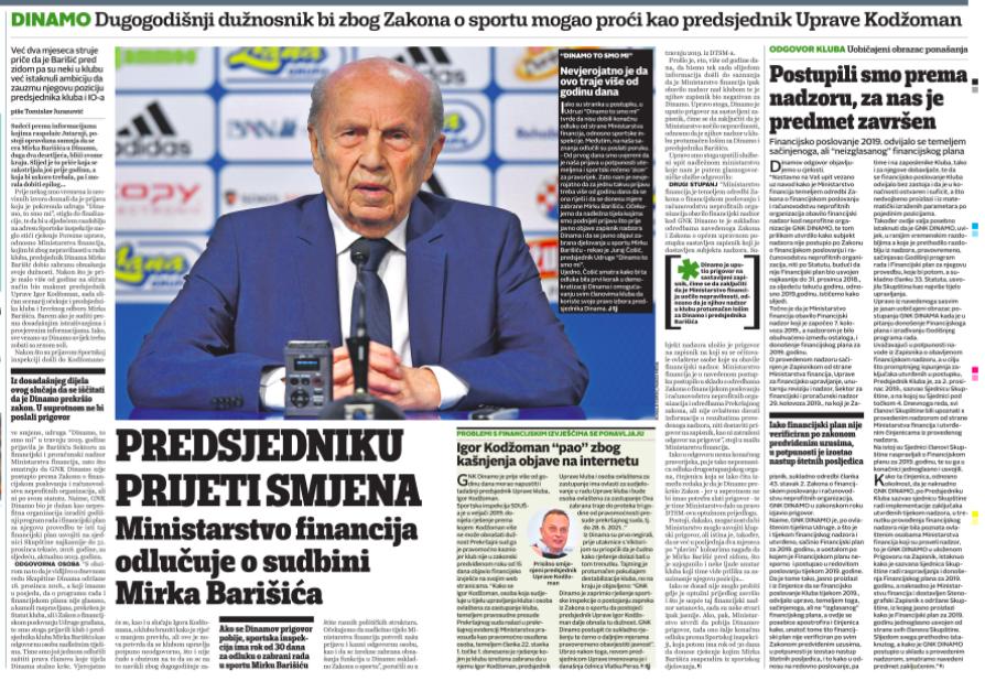 Gospodo iz Ministarstva financija, objavite nalaz i smjenite Barišića