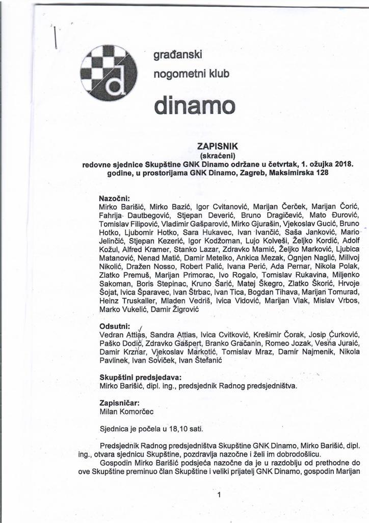 Sramotna odluka Dinamove skupštine
